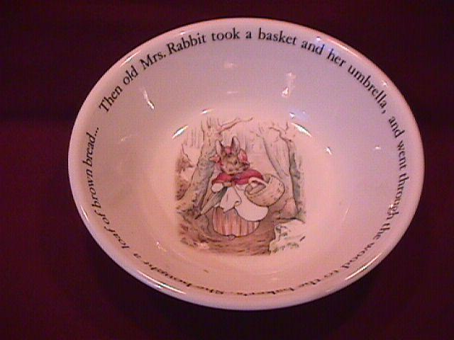 Wedgwood China-Beatrix Potter's (Peter Rabbit) Childs Cereal Bowl