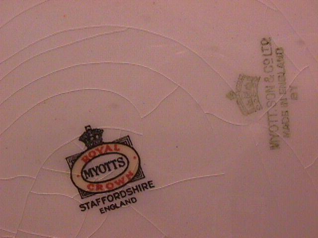 Myotts Royal Crown Handled Cake Plate