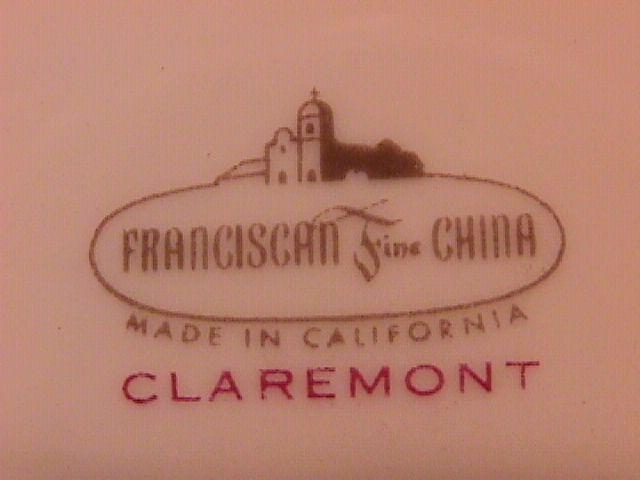 Franciscan Fine China (Claremont) Cake Plate