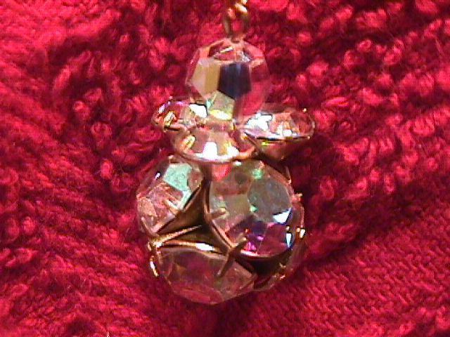 Aurora Borealis Crystal Pendant on a 18