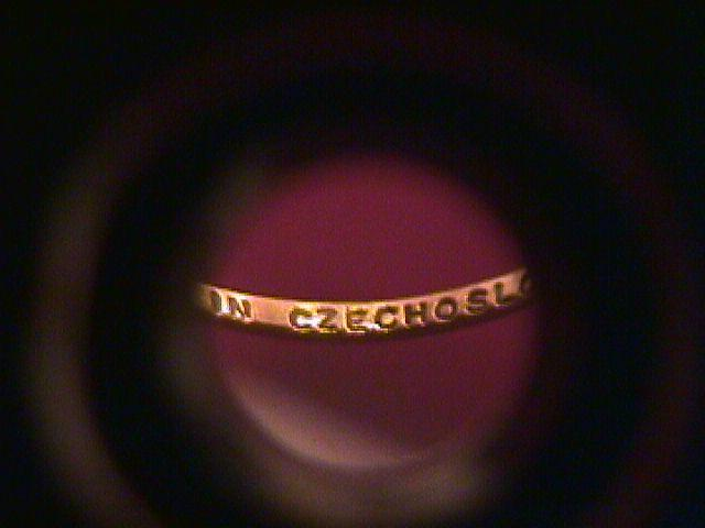 Childs Ring (Signed Czechoslovakia)