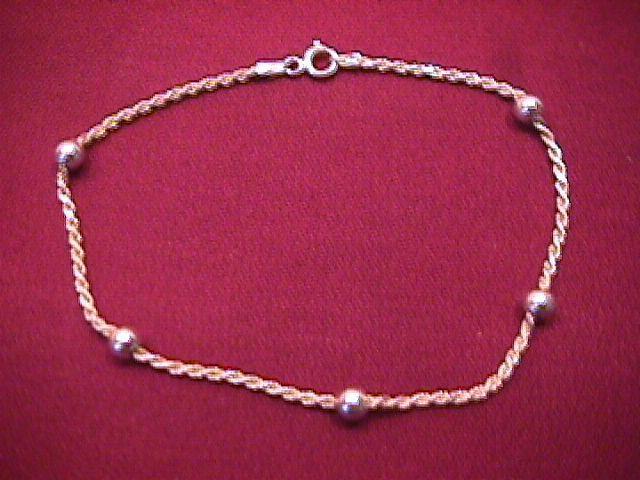 Sterling (Italy) Ankle Bracelet