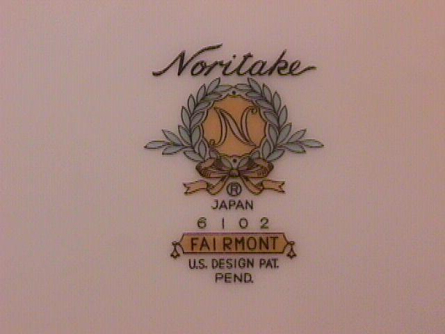 Noritake Fine China (Fairmont) #6102-2=Dinner Plates