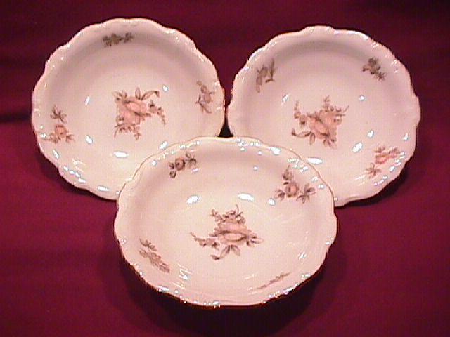 Johann Haviland Fine China (Sepia Rose) 3-Fruit Bowls