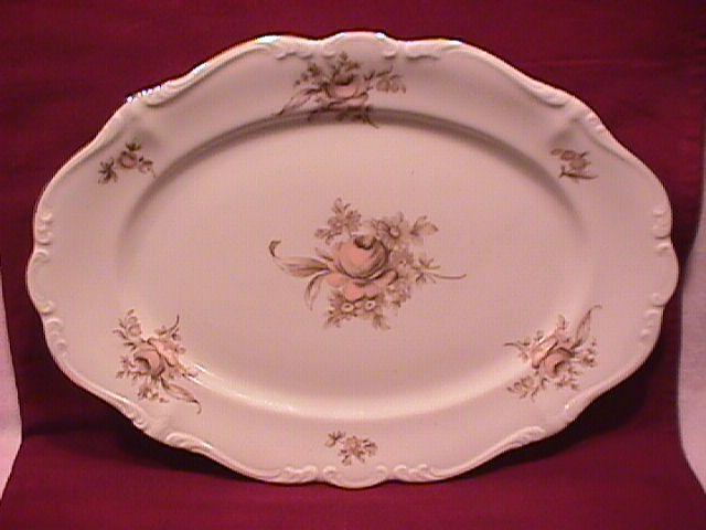 Johann Haviland Fine China (Sepia Rose) Ham Platter