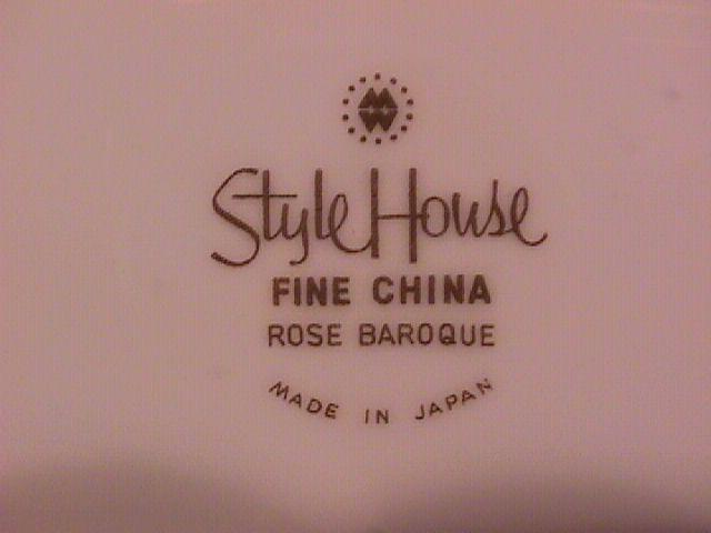 Style House China (Rose Baroque) 2-Cake Plates