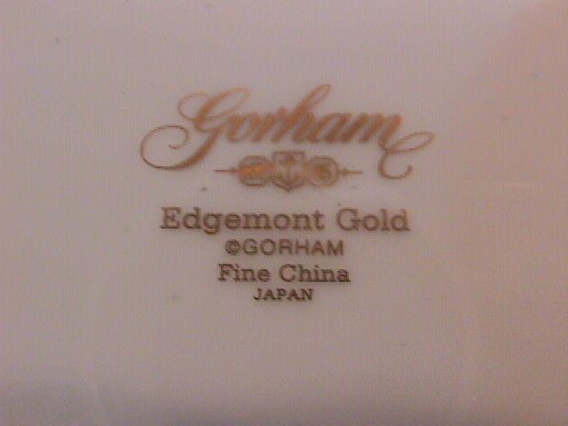 Gorham Fine China (Edgemont Gold) Dinner Plate