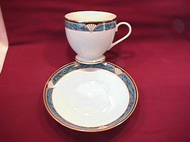 Gorham Fine China (Edgemont Gold) Cup & Saucer