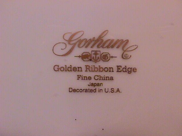 Gorham Fine China (Golden Ribbon Edge) Dinner Plate