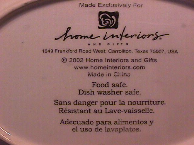 Home Interiors Fancy Oval Bon Bon Dish