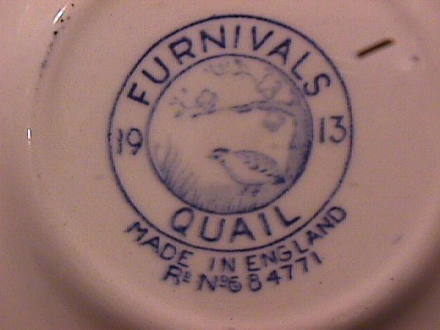 Furnivals China (Quail) Blue Saucer Only