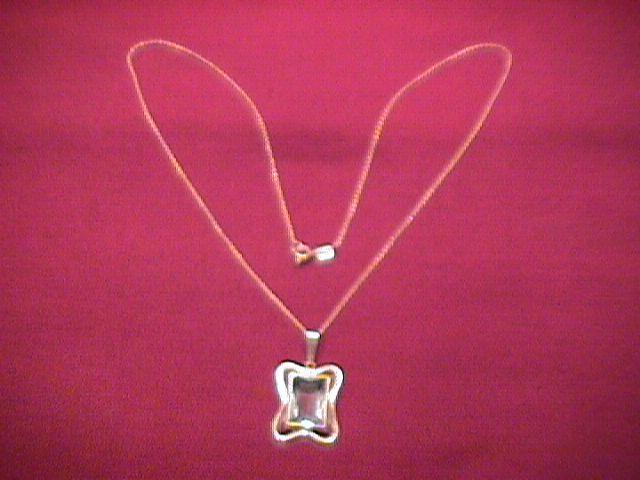 Silver (835) & Aqua Nouve Style Necklace