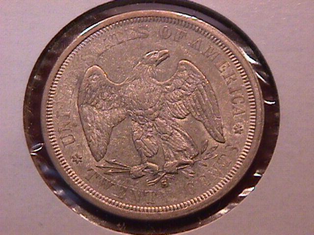 Liberty Seated Silver Twenty Cent Piece 1876-S MS-60