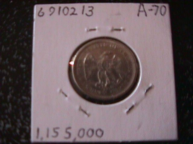 Liberty Seated Silver Graded Fine Twenty cent Piece 1875-S