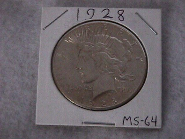 Peace Type Silver dollar 1928   MS-64