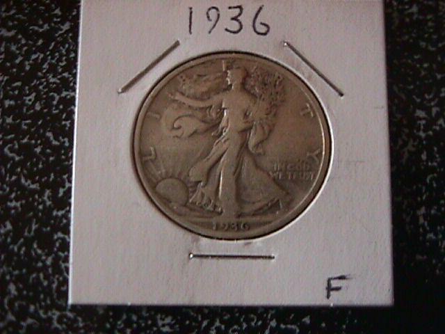 Liberty Walking Silver Half Dollar 1936  Fine Condition