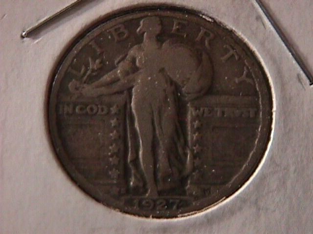 Standing Liberty Silver Quarter  1927-S  Fine Condition