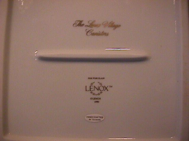 Lenox Fine Porcelain (The Lenox Village) Sugar Canister