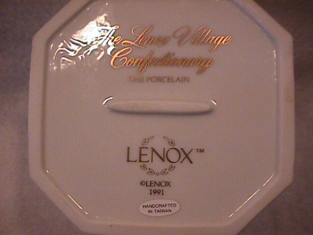 Lenox Fine Porcelain (The Lenox Village Confectionary) Covered Sugar