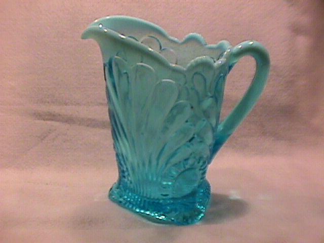 Jefferson Glass Co.- Blue Opalescent (Tokyo) Water Pitcher