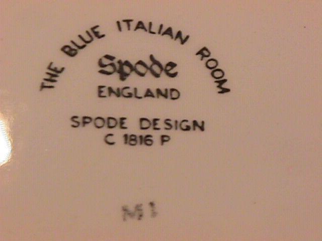Spode Fine China (Blue Italian) C1816 P Coffee Pot & Lid