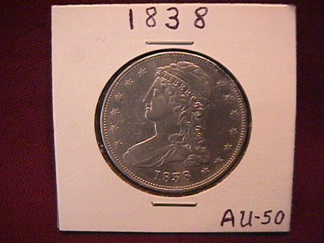 Silver Coin Capped Bust Half-Dollar