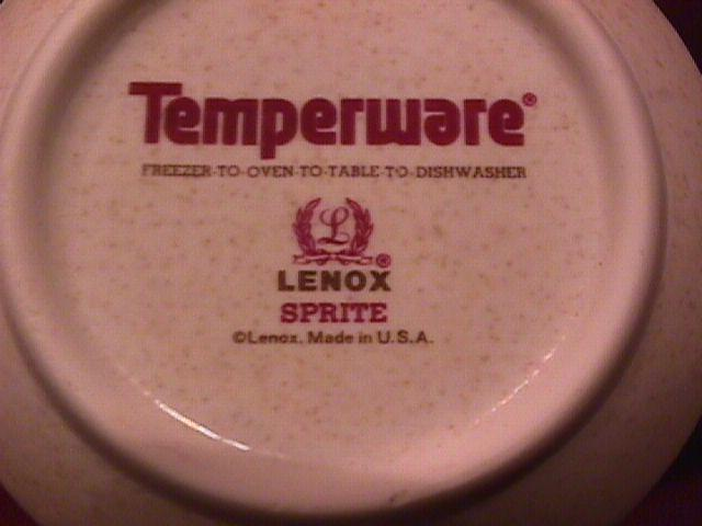 Lenox Temperware (Sprite) Creamer