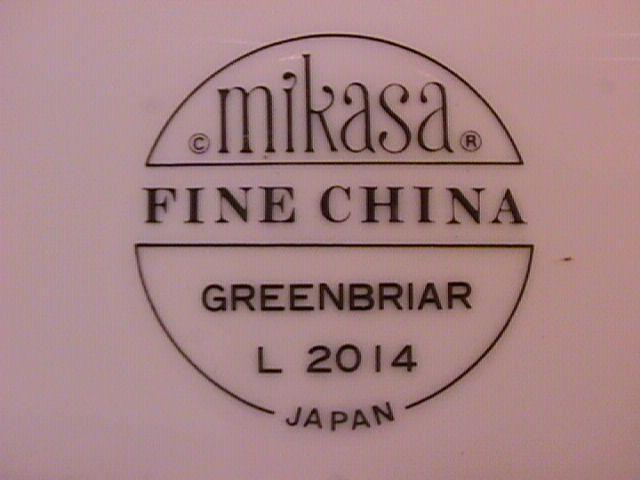 Mikasa Fine China (Greenbriar) L-2014 Dinner Plate