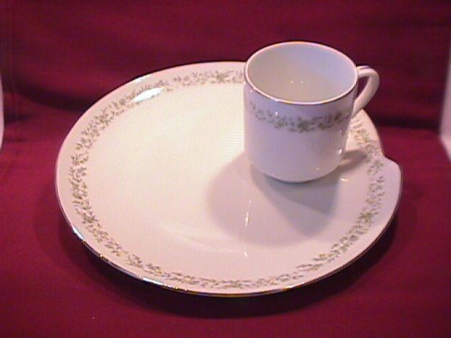 Mikasa Fine China (Montclaire) G-9059 Snack Tray & Cup
