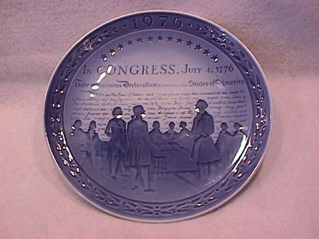 Royal Copenhagen (United States Bicentenary) 1976 Collector Plate