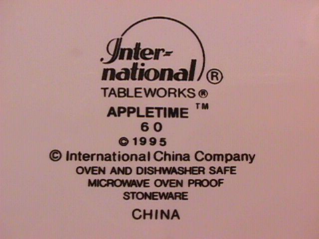 International Tableworks China (Appletime) Dinner Plate