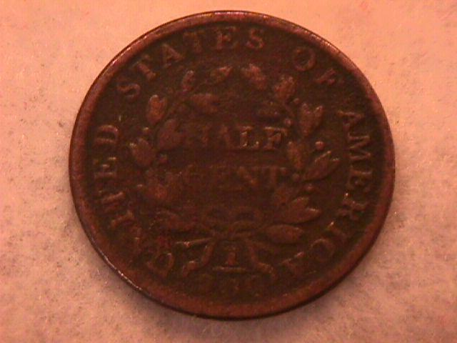 Half Cent Copper Coin Draped Bust-1803 Fine To Very Fine Condition