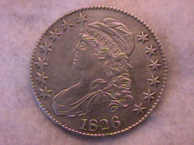 Capped Bust Half Dollar Coin 1826 Almost Uncirculated Condition