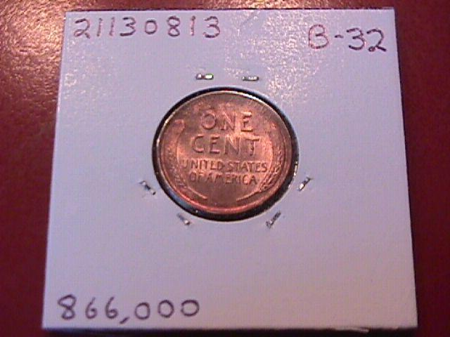 Lincoln Cent Copper 1931-S Mint State 63/64 Condition