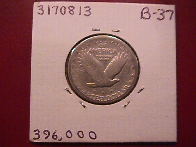 Standing Liberty Silver Quarter 1927-S Good Plus Condition