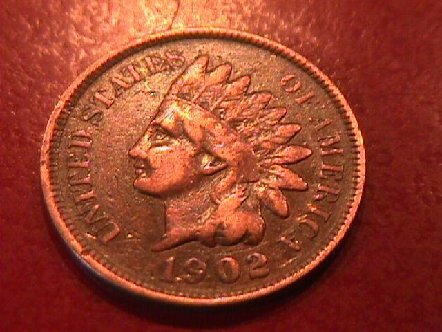 INDIAN HEAD Copper ONE CENT 1902 VERY GOOD CONDITION