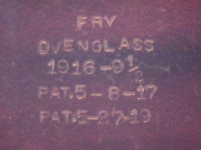 Rare= Fry Oven Glass Pie Plate