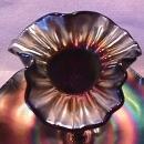 Dugan Carnival Glass (Fishnet Epergne) in Amethyst