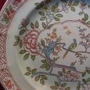 Adams Calyx Ware (Singapore Bird) Ovoid 8-Sided Vegetable