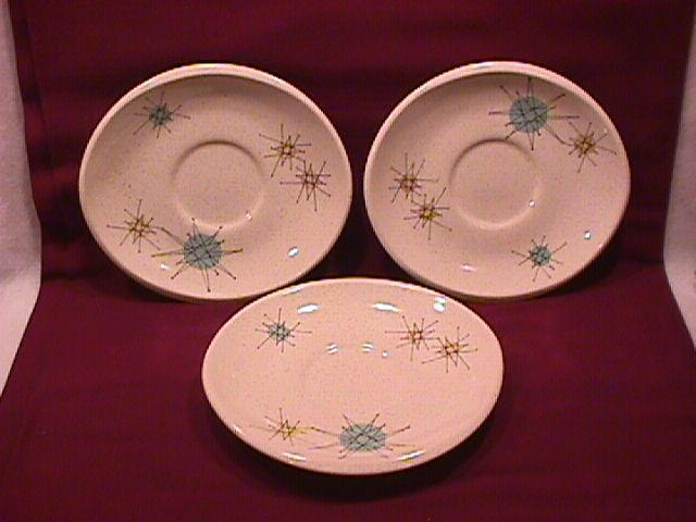 Franciscan China (Starburst) 3-Saucers