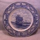 RARE=Crown Ducal (The Mayflower in Plymouth Harbor) Dinner Plate