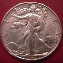 LIBERTY WALKING SILVER HALF DOLLAR 1938-D CHOICE VERY FINE