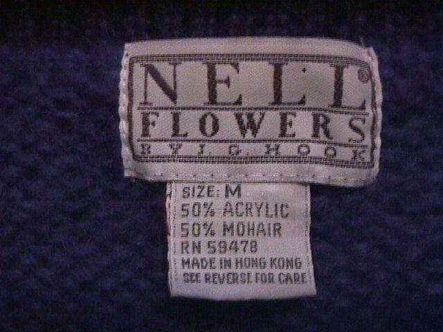 Georgeous Ladies Cardigan Sweater By Nell Flowers M