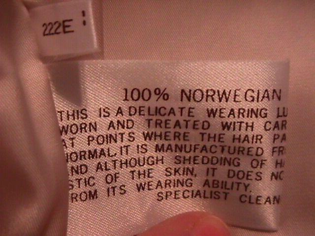 Luxury Norwegian Blue Fox Fur Coat- L
