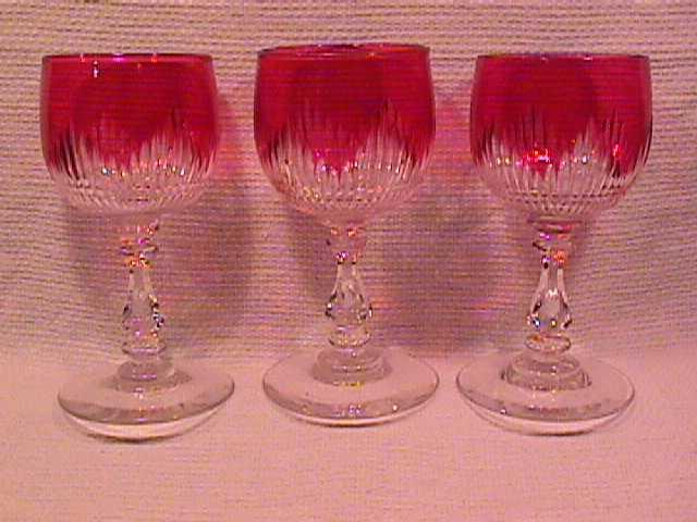 Set of 3 Beautiful Cranberry to Clear Liquor Cocktails