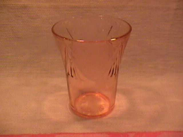 Hazel Atlas Pink Depression Glass (Royal Lace) Tumbler