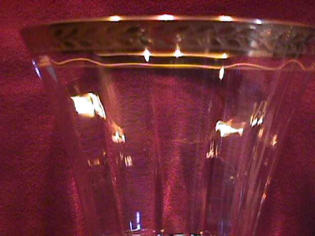 Tiffin (Laurel Wreath) Gold Encrusted #17343 Goblet