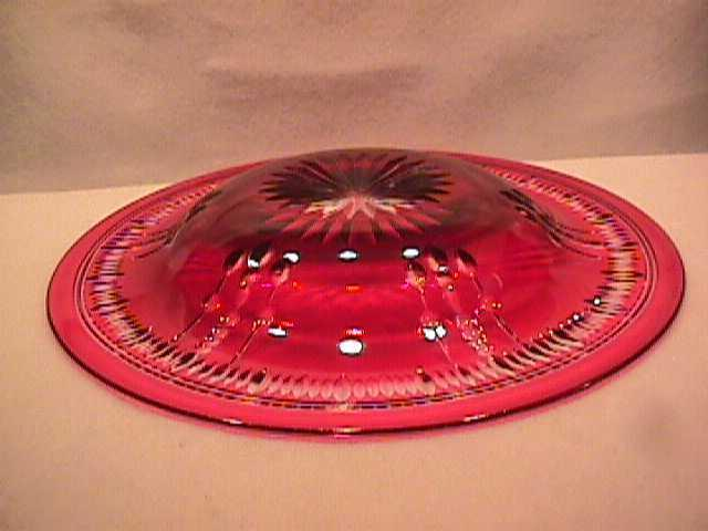 Bohemian Cranberry Cut-To-Clear-Dessert Plates/Shallow Bowls