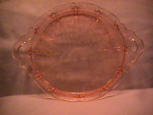 Jeanette Glass co. (Cherry Blossom) Sandwich Tray