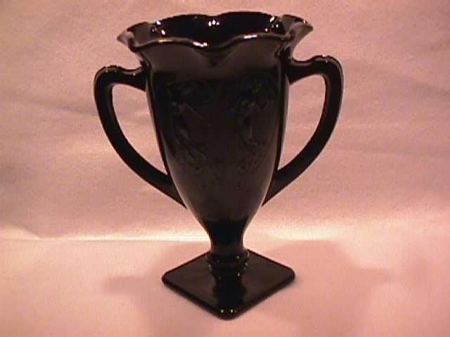Black Glass (Dance of the Nymphs) Trophy Vase